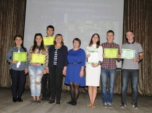 The participants of the week of European languages were awarded at College of Economics and Law