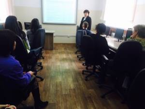 Dean of the Faculty of Economics Alla Cherep gave a series of lectures at leading University of Kazakhstan