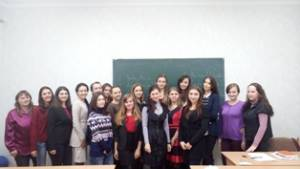 During the training students were preparing for participation in the international conferences