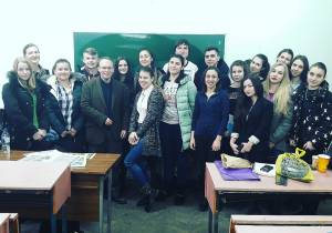 British Professor gave Lectures in English at Faculty of Journalism of ZNU