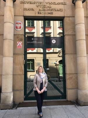 Lecturer of Faculty of Law Anna Sharaya completed internship at Polish university