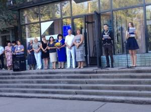 The freshmen of the College of Commerce were congratulated with the beginning of the new educational year