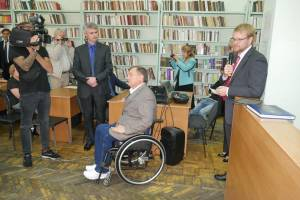 "Ambassador of Sweden Martin Haastriu visited ZNU on the presentation of the exhibition ""AccessAbility. To live in dignity despite the fate"""