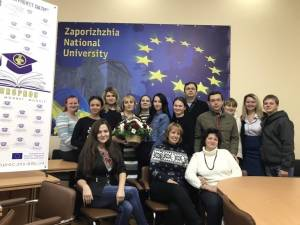 "The next stage of the educational process has begun in ZNU for the first year graduate students in teaching the course ""Fundamentals of European Project Activities"""