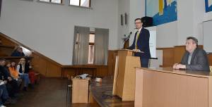 There was a meeting with the chairman of the Verkhovna Rada Committee on Industrial Policy and Entrepreneurship Viktor Hlasiuk in the Engineering Institute of ZNU
