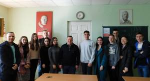 "Meeting with Oleksandr Lazutin, editor of the publishing house ""Dyke pole"" was held on the Faculty of Philology"