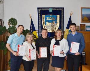 Professors of the Engineering Institute of ZNU received certificates of the University of Occupational Safety Management in Katowice (WSZOP)
