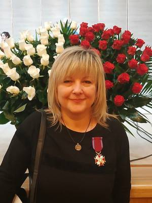 Associate Professor Hanna Makushynska was awarded the Silver Cross for merits from the President of the Republic of Poland